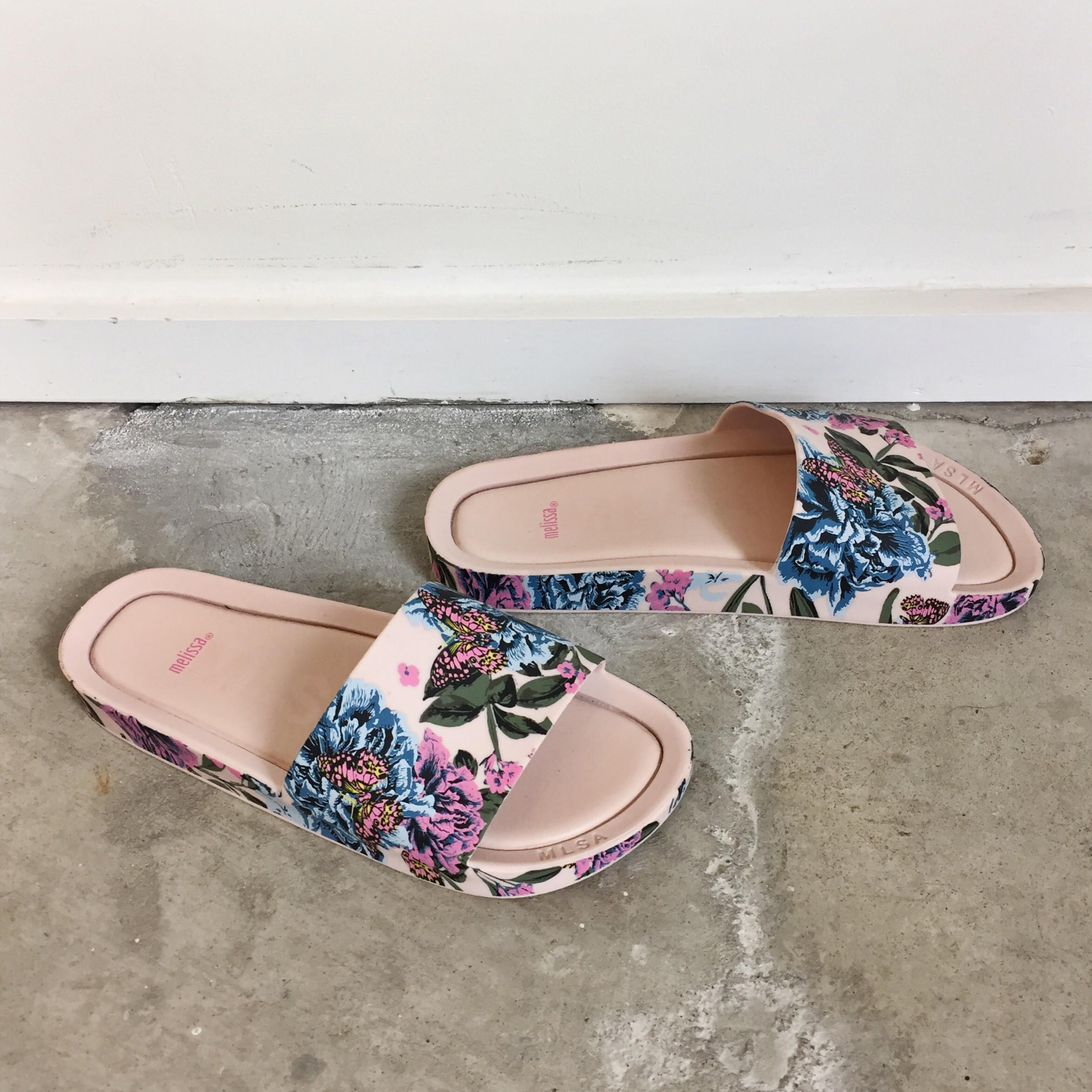 Melissa Beach Slide Iii Pink Flower Garmentory