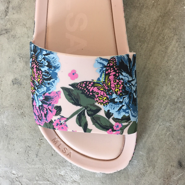 8b1bd5431 Melissa Beach Slide III in Pink Flower