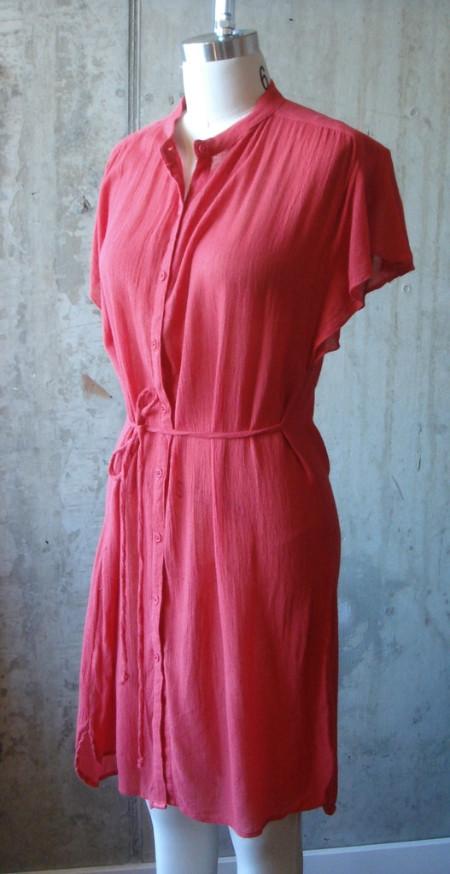 The Podolls Flutter Sleeve Belted Dress