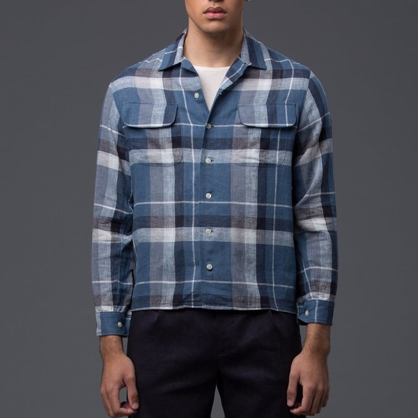 KRAMMER & STOUDT Cesar Vintage Shirt - Blue Plaid