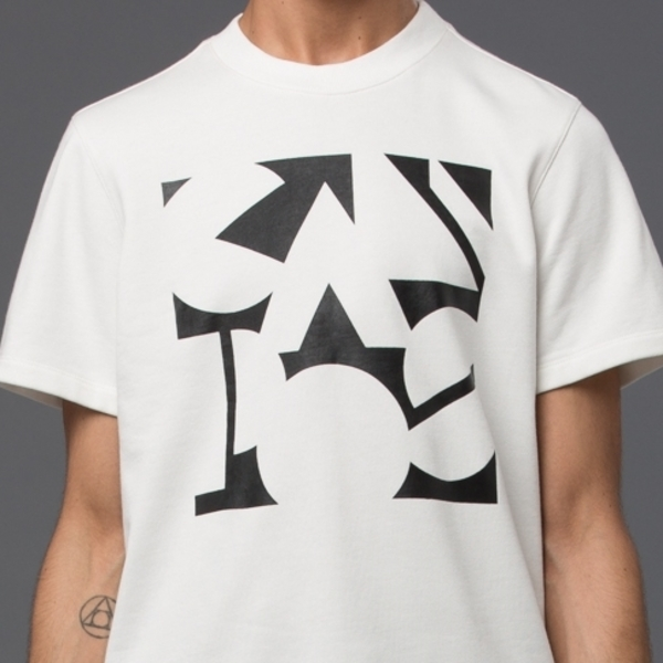 Men's CARLOS CAMPOS - Short Sleeve Sweatshirt - Black/White Campos Print