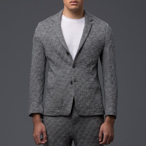 KRAMMER & STOUDT - Luxe Knit Blazer - Grey Quilted