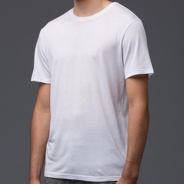 DEVEAUX - Short Sleeve Tencel Tee - White