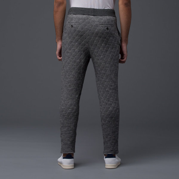 KRAMMER & STOUDT - Luxe Knit Sweatpant - Grey Quilted