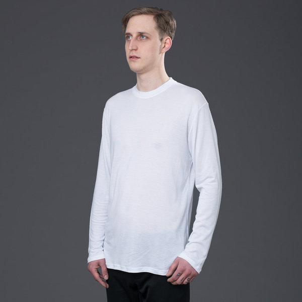 DEVEAUX - Long Sleeve Tencel Tee - White