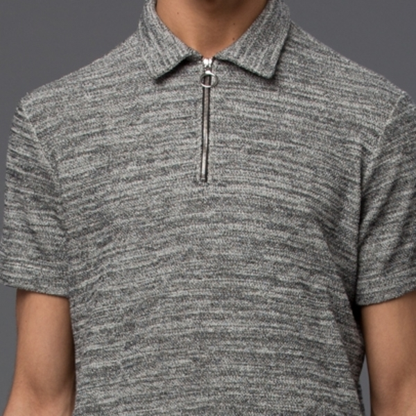 Krammer & Stoudt Vintage Polo -­ Black/White Boucle