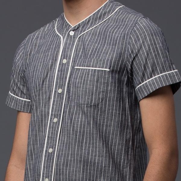 KRAMMER & STOUDT - Baseball Shirt - Grey with White Stripe