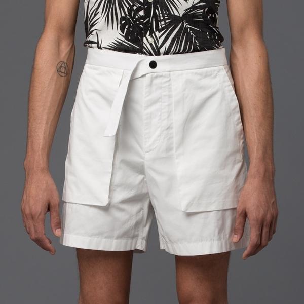 CARLOS CAMPOS - Cargo Pocket Shorts - White