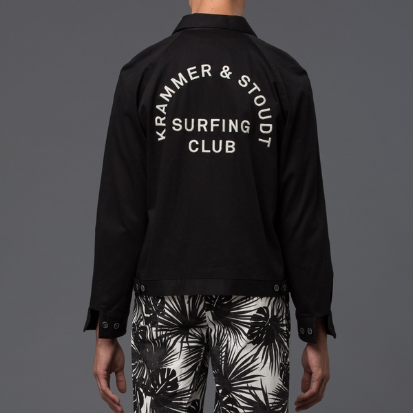 KRAMMER & STOUDT - Surfing Club Jacket - Black w/ Embroidery