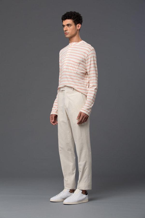 PALMIERS DU MAL - Como Trouser - Tan Horizontal Stripes