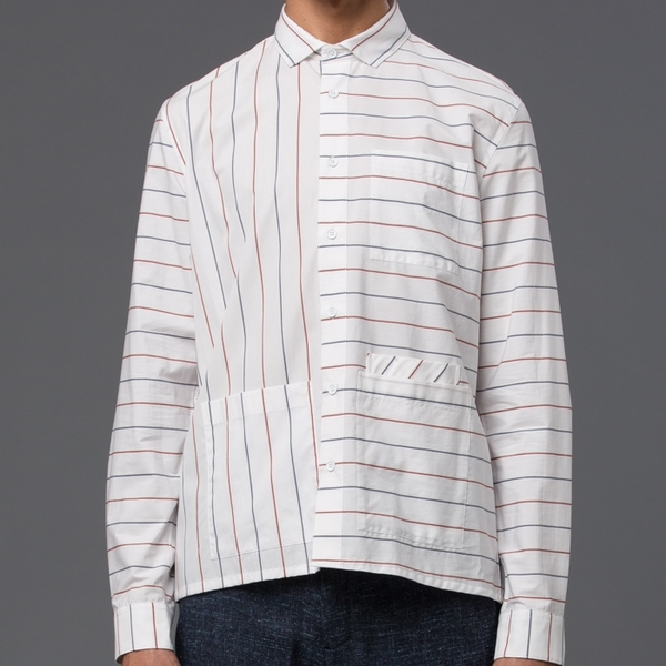 DDUGOFF - Sol Four Pocket Shirt - Business Stripe