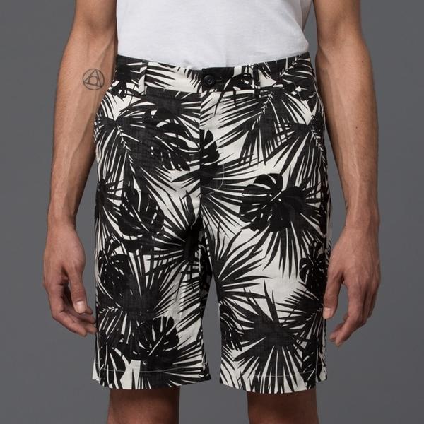KRAMMER & STOUDT - Bogart Short - Hawaiian White and Black Print