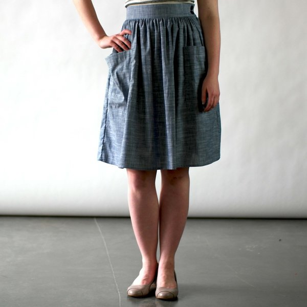 NOOWORKS Mitzy Skirt in Chambray