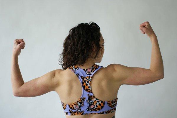 NOOWORKS Racerback Swim Top in Cheetah