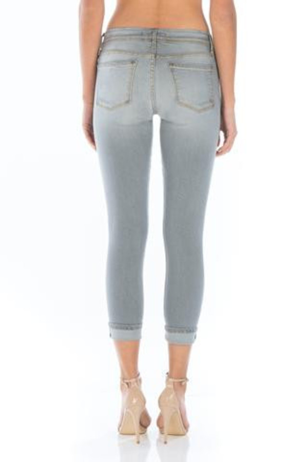 Fidelity Denim Belvedere Crop Skinny in Grey Vintage