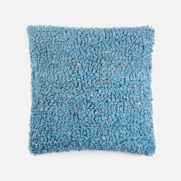 Someware Curly Oversized Pillow - Sky Blue
