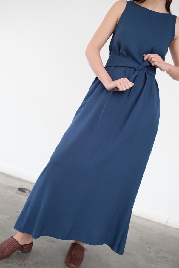 Jesse Kamm Palma Dress in Nautical Blue