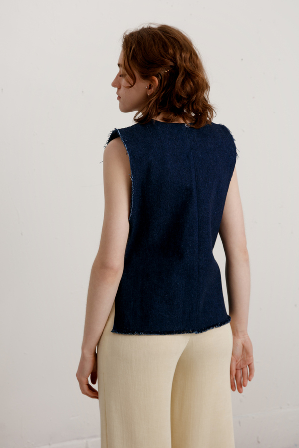 Delfina Balda  Sona Top - Denim