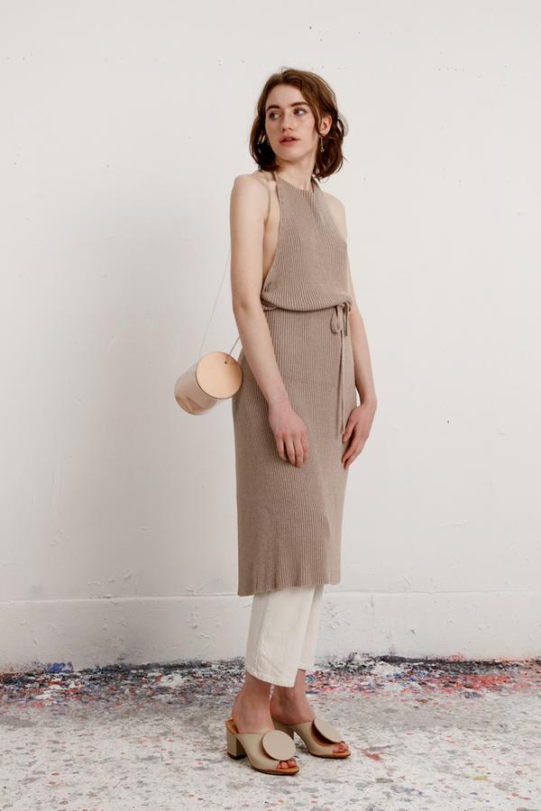 b3c9752b287 Baserange Knit Apron Dress - Khaki. sold out
