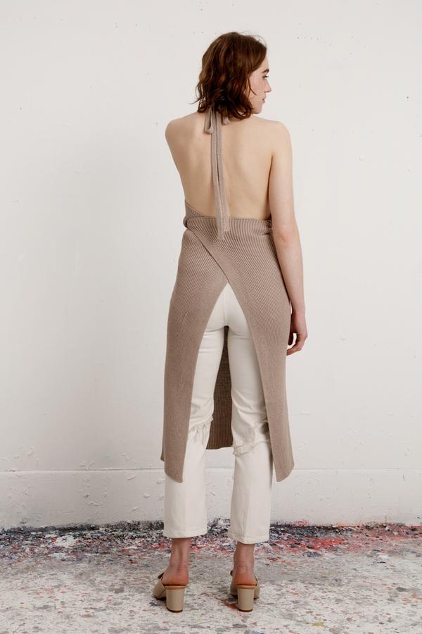 77508d113b1 Baserange Knit Apron Dress - Khaki. sold out. Baserange