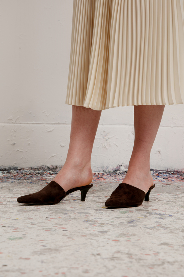 cost for sale Maryam Nassir Zadeh Pointed-Toe Suede Mules outlet Manchester PgRtHH