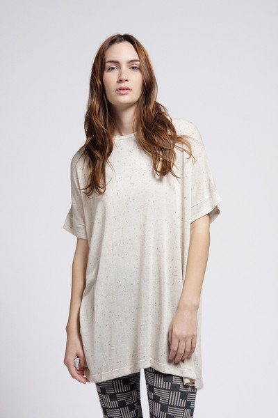 Micaela Greg Sheer Cream Tee