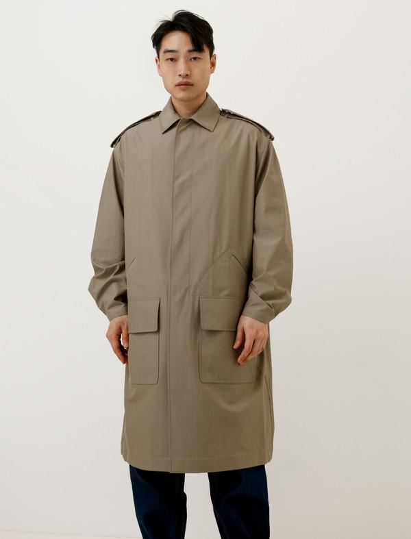 E Tautz Mens Car Coat Rain System Stone | Garmentory