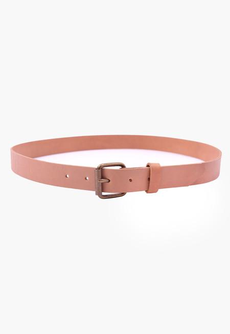 Apple Vai Leather Belt - Natural