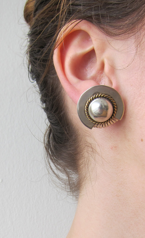 Vintage Collection Deco silver  earrings