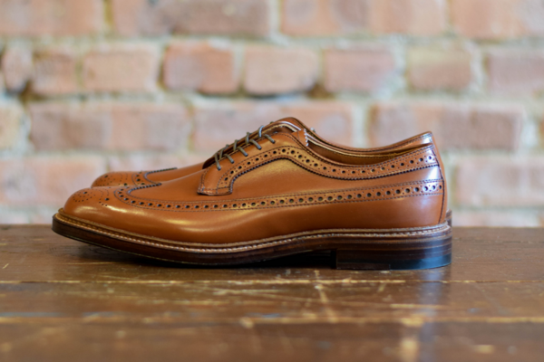 Alden Shoes 979 Long Wing Blucher Burnished Tan Calf