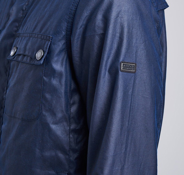 Barbour Int. Lock Wax Jacket Indigo