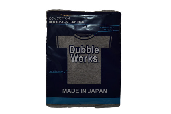 DUBBLEWORKS TWO PACK GREY POCKET TEE