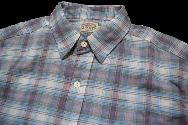 Faherty Brand Blue Grey Ventura Shirt