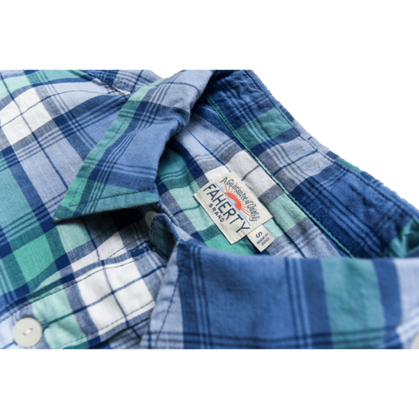 Faherty Brand Seaview Shirt - Blue/Cream Plaid