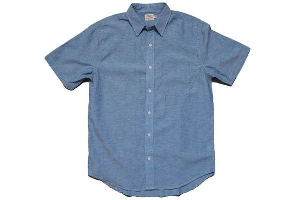 Faherty Brand Breezecloth Ventura Shirt Blue