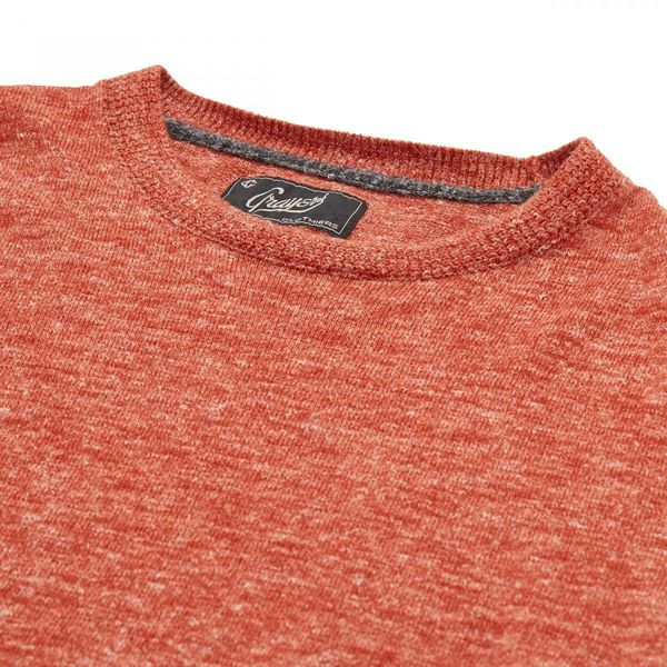 Grayers Andover Wool Linen Crew Neck Burnt Orange