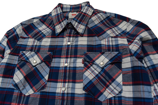Levis Red Tab LEVIS BLUE BARSTOW WESTERN SHIRT