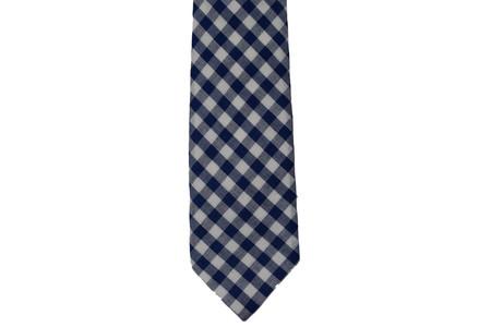 Milworks Tie Blue Gingham