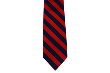 Milworks Tie Navy & Red Striped