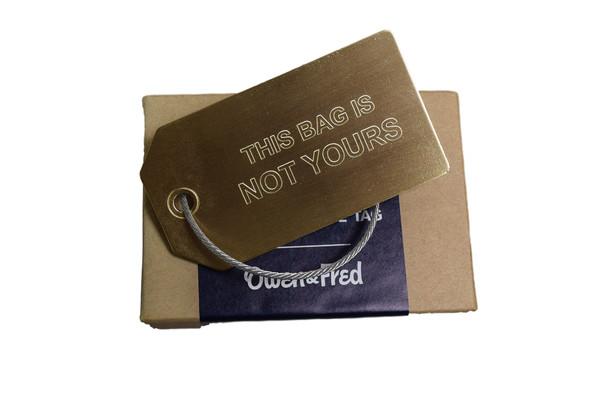 Owen & Fred Brass Luggage Tag