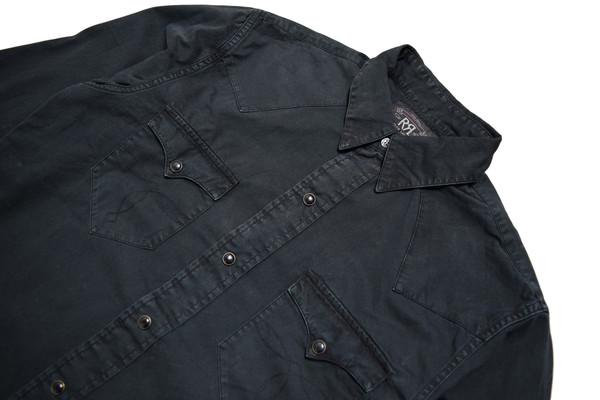 RRL Heritage Western Shirt - Black