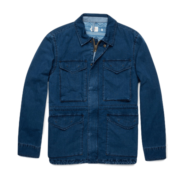 Faherty Brand Military Jacket Indigo