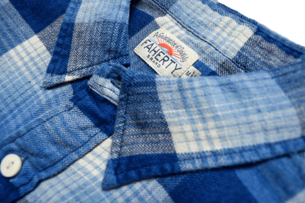 Faherty Brand Seasons Workshirt Indigo Fade