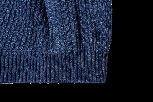 Saturdays NYC Miguel Cable Knit Sweater Indigo