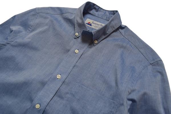 SANTIAGO SHIRT CO. BLUE OXFORD