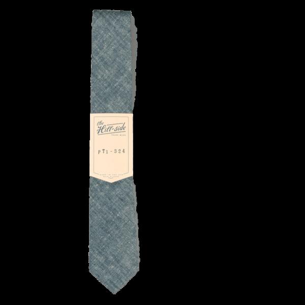 The Hillside Pointed Tie Extra Neppy Indigo