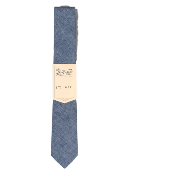 The Hillside Pointed Tie Selvedge Chambray Indigo