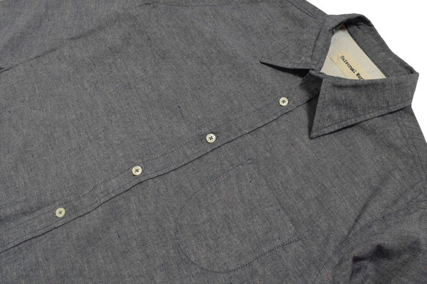 Universal Works Nep Chambray Point Collar Shirt