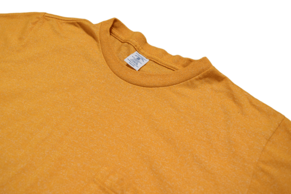 Velva Sheen Twist Pocket Tee Heather Gold
