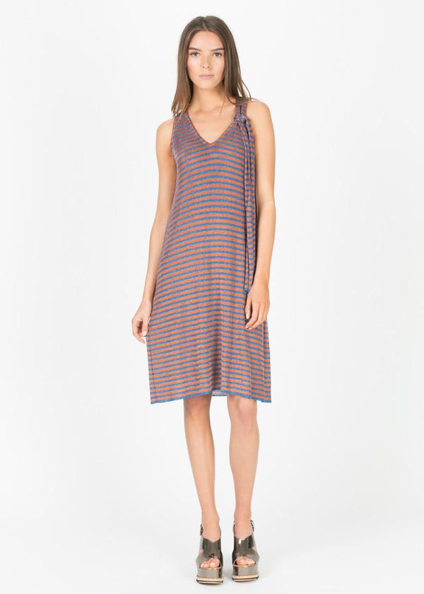 Siyu Rayitas Lurex Sleeveless Dress
